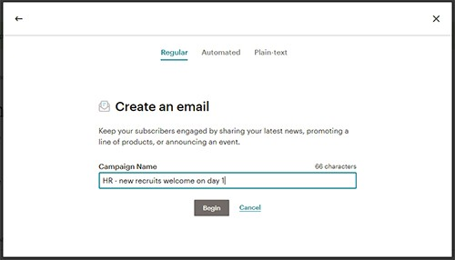 How to send HTML emails to one recipient at a time using MailChimp
